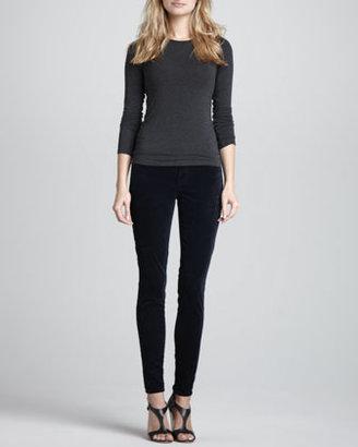 J Brand Jeans 815 Luxe Velveteen Skinny Pants, Steel