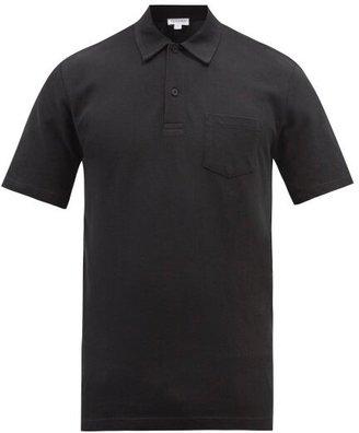 Sunspel Riviera Cotton-pique Polo Shirt - Black