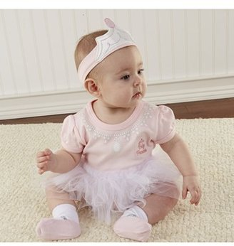 Baby Aspen 'Big Dreamzzz - Princess' Bodysuit, Sock & Headband (Baby Girls)