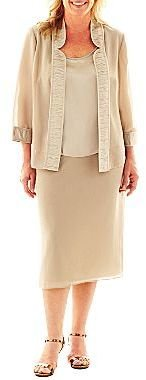 JCPenney Dana Kay Skirt Suit with Blouse - Plus