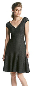 Anne Klein Seamed Rope Fit And Flare Dress