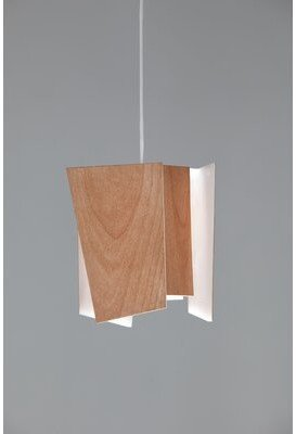 Levi's Levis 1-Light Unique / Statement Geometric LED Pendant Cerno Shade Color: Beech Wood, Bulb Type: 3500K (Cool)