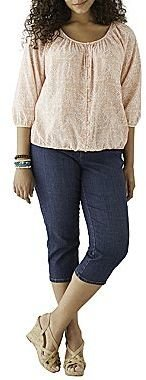 JCPenney St. John's Bay® Peasant Top or a.n.a® Skinny Ankle Jeans