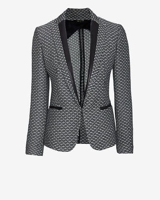 Rag and Bone Rag & bone Lorimer Leather Detail Tweed Blazer