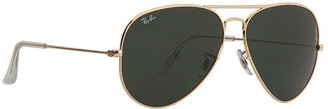 Ray-Ban Aviator Extra Large 62 mm Metal Sunglasses in Gold - 001