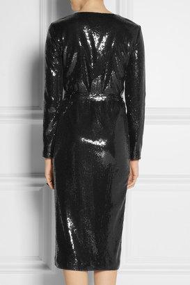 Halston Sequined mesh dress