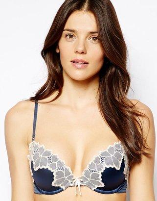 Elle Macpherson Intimates Lush Bloom Plunge Boost Bra - Blue