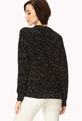 Forever 21 Cozy Speckled Cable Knit Sweater