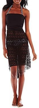 JCPenney Bisou Bisou® Crochet Convertible Cover-Up Skirt/Dress or Retro Swim Separates