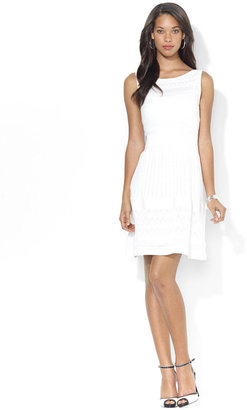 Lauren Ralph Lauren Sleeveless A-Line Pointelle-Knit Flare Dress