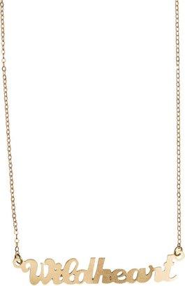 Flea Market Girl Name Plate Wild Heart Necklace