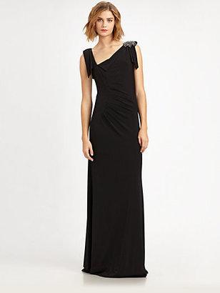 David Meister Matte Jersey Gown