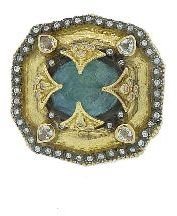 Armenta Heraldry Ring with Labradorite Center