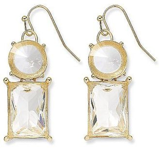 JCPenney Clear Stone Drop Earrings