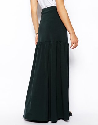 Asos Maxi Skirt With Dropped Waist