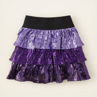 Children's Place Sequin ombre skirt