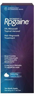 Women's Rogaine Hair Regrowth Treatment Foam 2 Month Supply $31.99 thestylecure.com