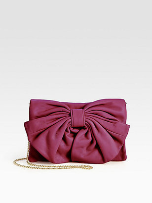 RED Valentino Leather Bow Shoulder Bag