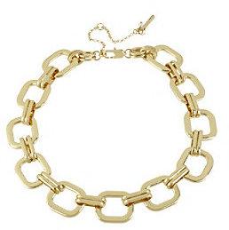 Kenneth Cole Goldtone Square Link Necklace