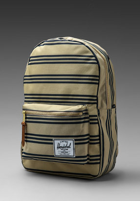 Herschel Settlement Plus Backpack in Navy/Khaki Stripe