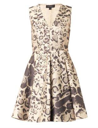Giambattista Valli Leopard-jacquard dress