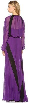 Jean Paul Gaultier Long Sleeve Maxi Dress