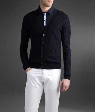 Armani Collezioni Cardigan in textured cotton