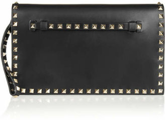 Valentino - The Rockstud Leather Clutch - Black $1,795 thestylecure.com