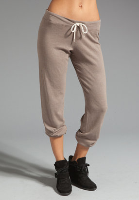Monrow White Fleece Vintage Sweats