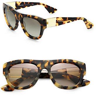 Miu Miu Plastic Square Sunglasses