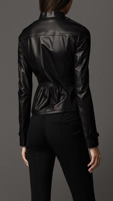 Burberry Taped Seam Leather Jacket
