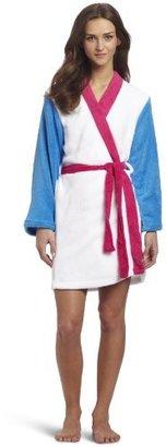 Sweet Juniors White Color Block Kimono Robe