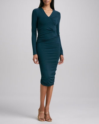 Donna Karan Gathered Fitted Dress