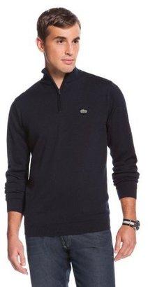 Lacoste Wool 1/4 Zip Jersey Sweater