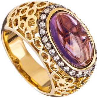 Andara Purple Cutout Bubbles Ring