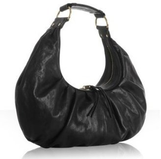 Alexis Hudson black pleated leather 'St. Germaine' hobo