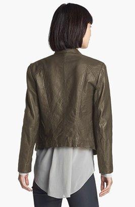 Helmut Lang HELMUT Washed Leather Moto Jacket