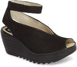 88d632bf6d514 Fly London Black Leather Women's Sandals - ShopStyle