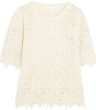 Chloé Guipure lace and cotton top