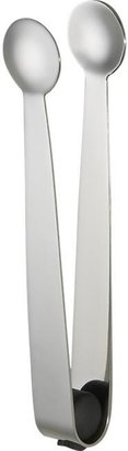 Crate & Barrel Stainless Steel Ice Tongs