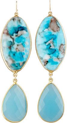 Devon Leigh Turquoise Double-Drop Earrings