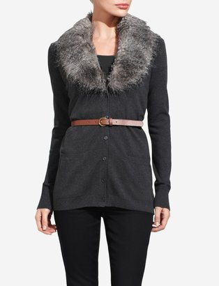 The Limited Fur-Collar Cardigan