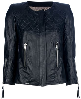 S.W.O.R.D. Quited leather jacket