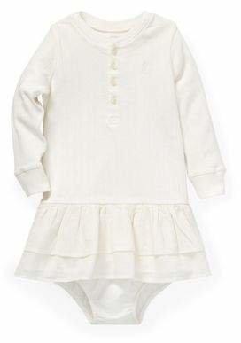Ralph Lauren Childrenswear Baby Girl's Two-Piece Ruffled Cotton Dress Bloomers Set