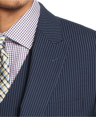 Sean John Suit, Navy Pinstripe Vested Big and Tall