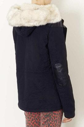 Topshop Tall Fur Trim Borg Lined Parka
