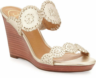 Jack Rogers Luccia Leather Wedge Sandals