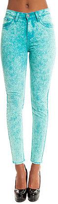 Ziggy The Sticks & Bones Ankle Skinny Jean in Neon Mint