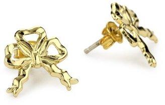 Bing Bang Yellow Gold Tiny Bow Stud Earrings