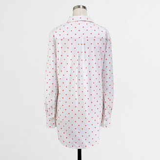 J.Crew Factory Factory dotted oxford pocket tunic